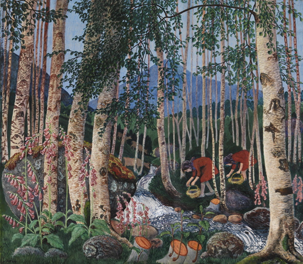 Foxgloves by Nikolai Astrup. Picture: Dulwich Picture Gallery