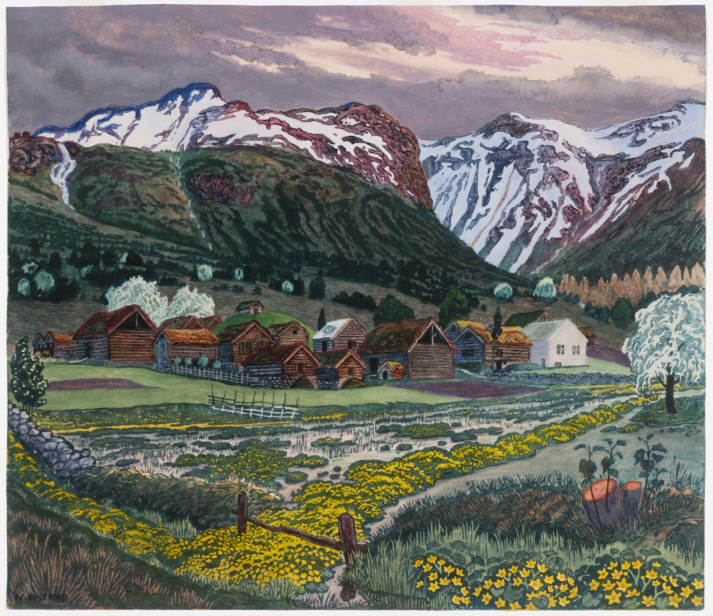 Marigold Night, by Nikolai Astrup. Picture: Dulwich Picture Gallery