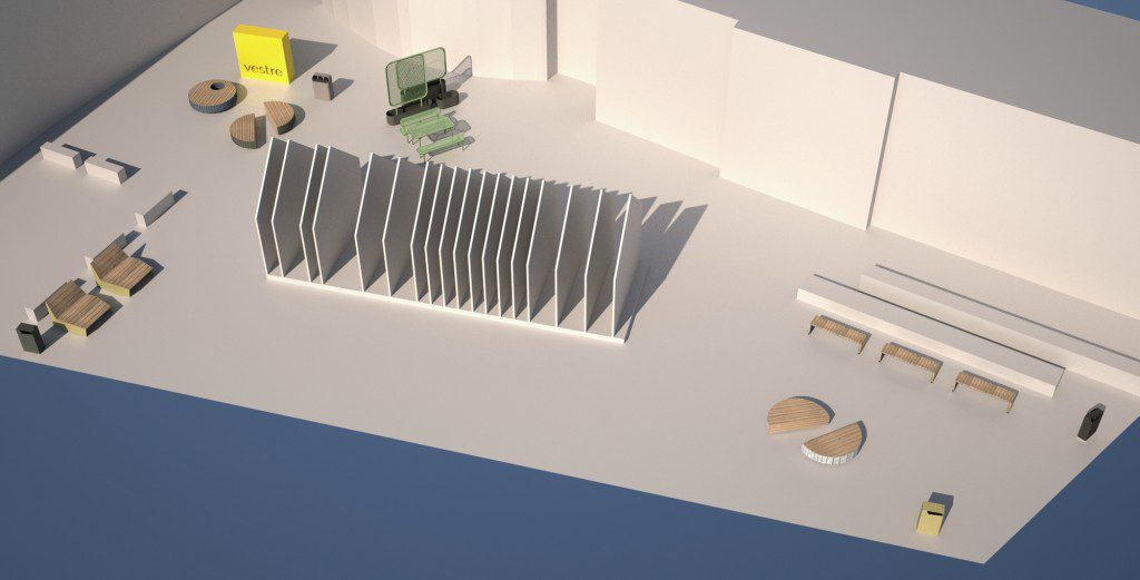 A model of the planned exhibition in Clerkenwell. Photo: Vestre
