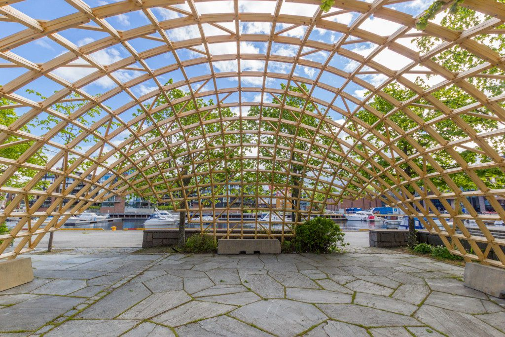 Experimental Trondheim Gridshell - Rallar Arkitekter. Photo: Rallar Arkitekter