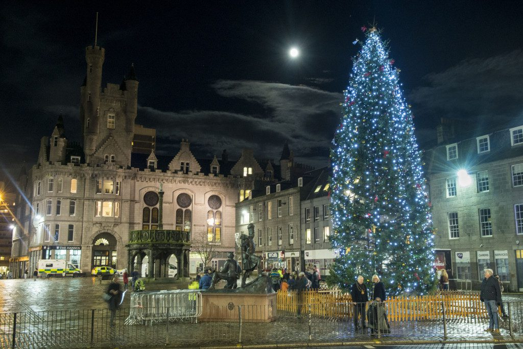 The Norwegian Christmas tree in Aberdeen - Photo: Norman Adams-Aberdeen City Council