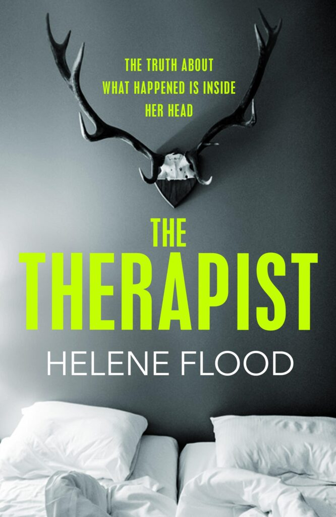 Cover of The Therapist by Helene Flood (MacLehose Press)