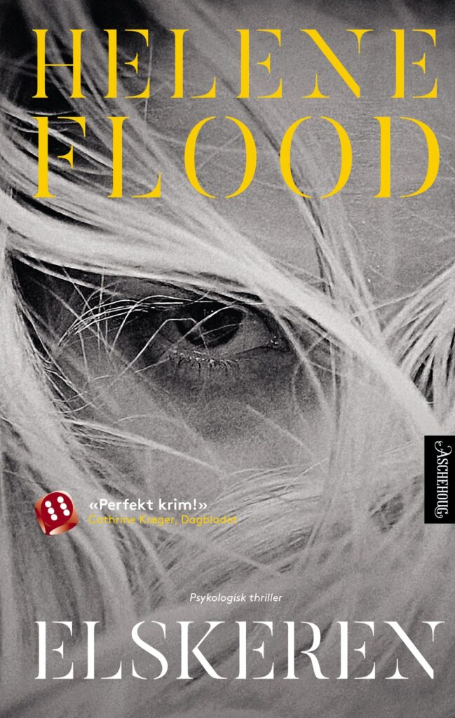 Norwegian cover of Helene Flood's second novel, The Lover (Aschehoug)
